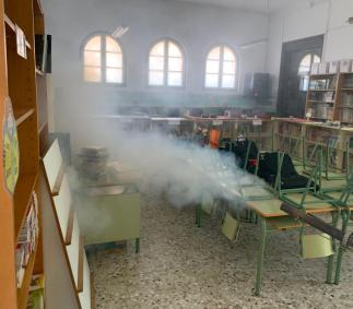 Desinfeccion en colegios de Tarazona