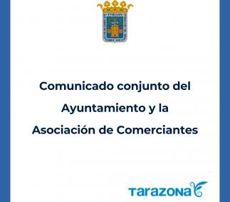 Comunicado conjunto Ayuntamiento y Asociación de Comerciantes
