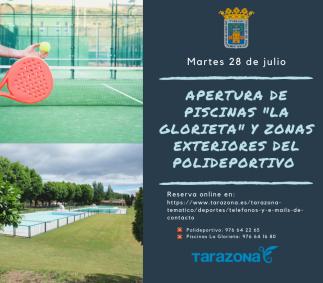 Reserva Online Piscinas y Exteriores Polideportivo