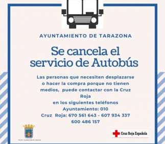 Ayuntamiento de Tarazona - Cancelado el servicio de Autobús