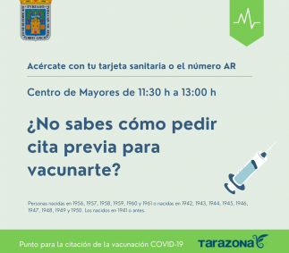 Punto para pedir cita previa de vacunacion COVID-19