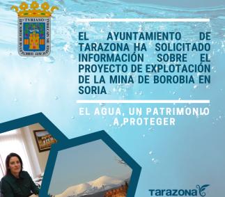 El Ayuntamiento de Tarazona solicita información sobre el proyecto de explotación de la mina de Borobia en Soria