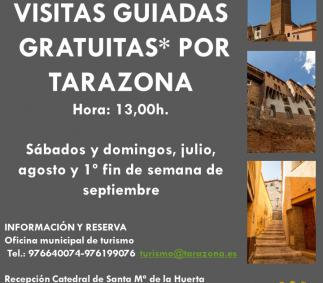 VISITAS GUIADAS GRATUITAS POR TARAZONA
