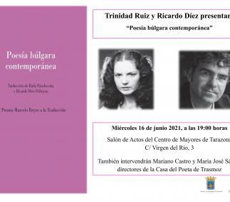 """Presentación del libro  """"Poesia búlgara Contemporánea"""""""
