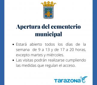 Apertura cementerio municipal