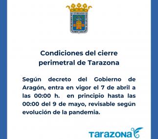 CONDICIONES DEL CIERRE PERIMETRAL DE LA CIUDAD DE TARAZONA