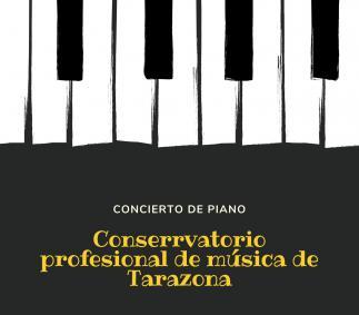 Concierto de piano conservatorio profesional de musica en Tarazona