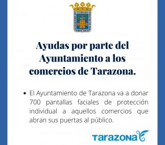 Ayudas por parte del Ayuntamiento a los comercios de Tarazona.