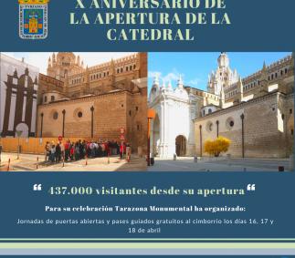 X ANIVERSARIO DE LA APERTURA DE LA CATEDRAL DE SANTA MARÍA DE LA HUERTA