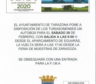 Ayuntamiento de Tarazona - Bus para visitar FIMA
