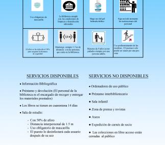 Nuevos horarios y condiciones para el uso de  la Biblioteca Muncipal
