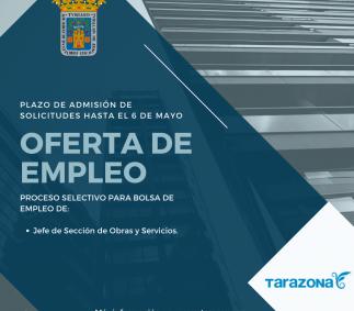 Proceso selectivo de bolsa de empleo  de Jefe de  Sección de Obras y Servicios