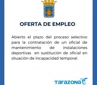 Selección de oficial de mantenimiento de instalaciones deportivas