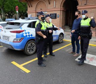 la Policía Local incauta un arma blanca a un joven ene la madrugada del domingo