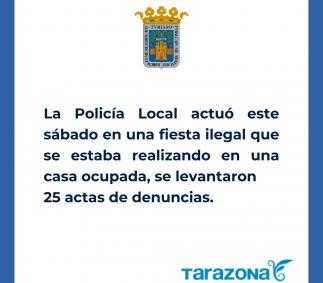 La Policía Local actúa en una fiesta ilegal en una casa ocupada