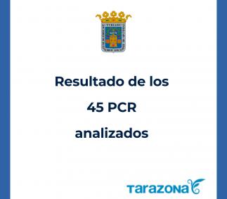 Resultados de los 45 PCR realizados