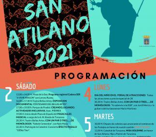 Presentación del cartel de actividades culturales de San Atilano