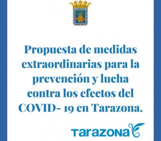 Propuesta de medidas extraordinariasCOVID-19