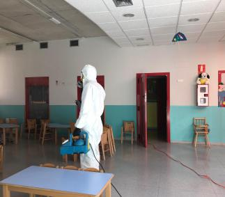 Desinfección de la Escuela Infantil