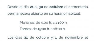 """Cementerio festividad de """"Todos los Santos"""" 2021"""