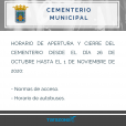 Normas de acceso al cementerio Tarazona