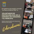 la Placa al Mérito de Protección Civil en Aragón 2020