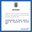 Cobro voluntario de Arrendamientos Fincas Rústicas y Canon de Ocupaciones de Terrenos 2021