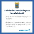 Bando - Matrículas Escuela Infantil Tarazona